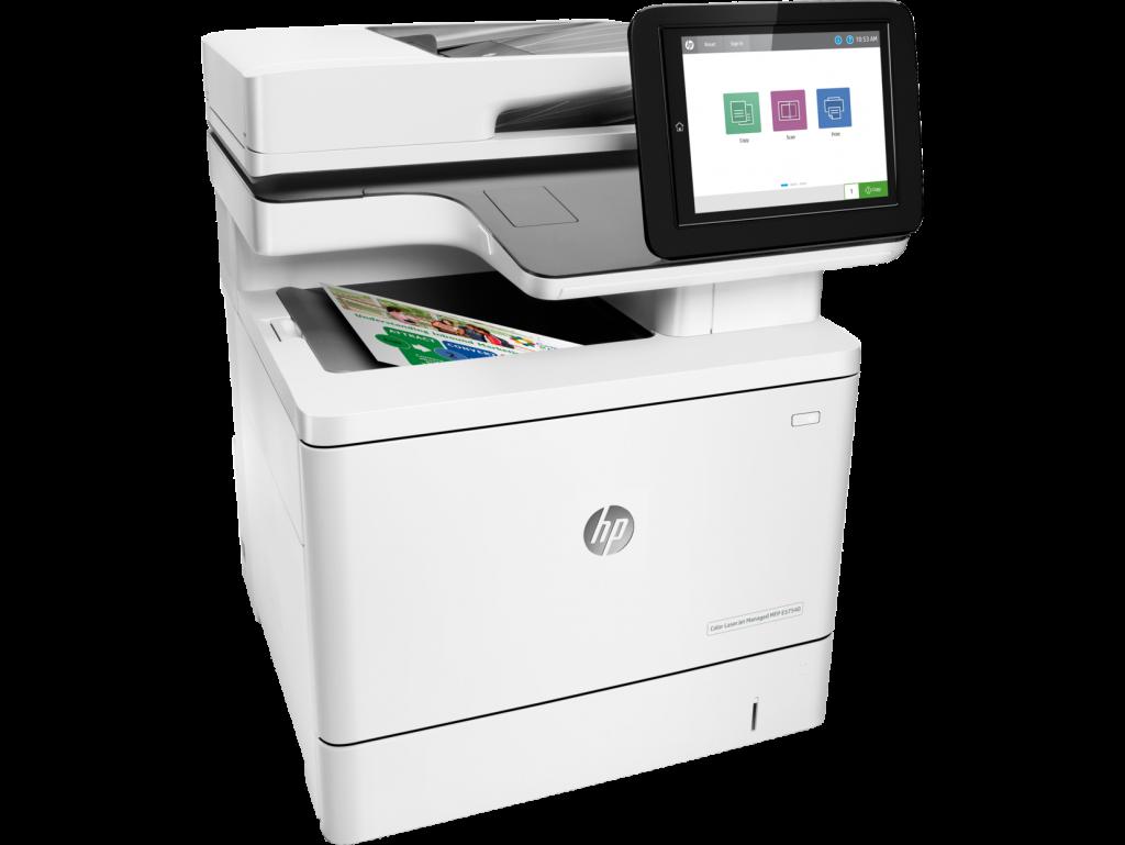 HP Color LaserJet Managed MFP E57540 series on transparent background